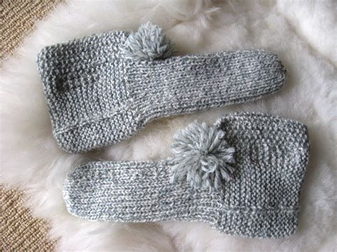 pattern for knitted house slippers big little slippers