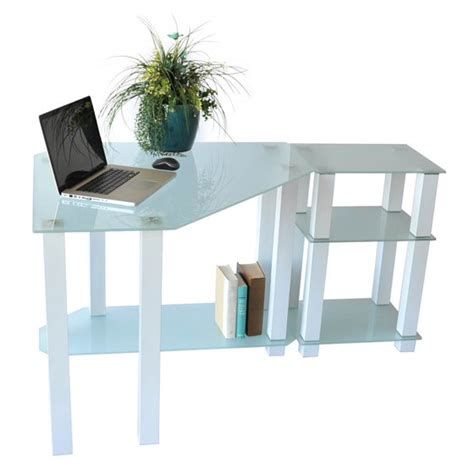 corner computer desk with right extension table walmart