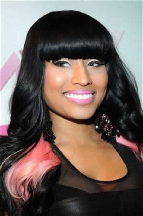 nicki minaj chinese bangs blunt bangs are also a trend new star hair blog
