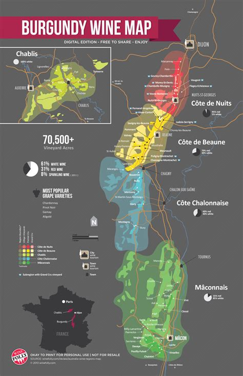 wine map a simple guide to burgundy wine with maps wine folly