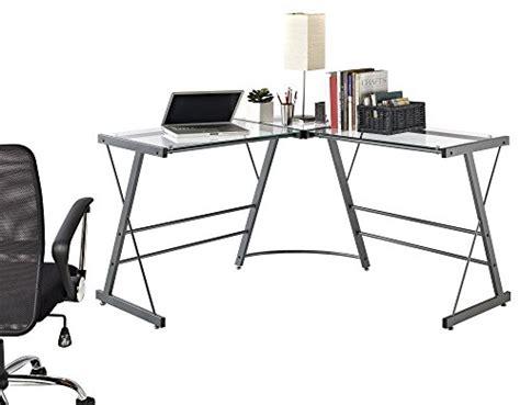ameriwood corner computer desk ameriwood home odin glass l shaped computer desk gray