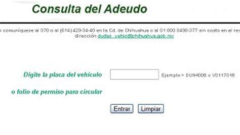 consulta pago tenencia edo mex chihuahua adeudo y pagos de tenencia e infracciones 2014