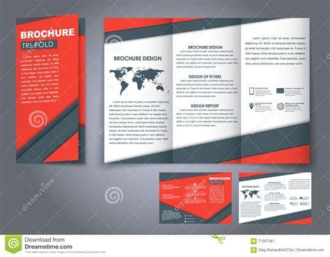 material design leaflet template triple folding brochures stock vector image