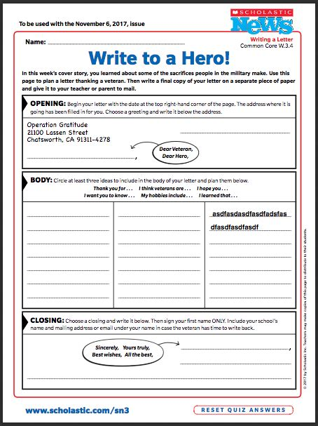 thank you card for veterans word template veterans day writing activity thank a scholastic