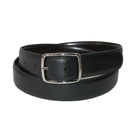 mens leather reversible center bar dress belt by aquarius