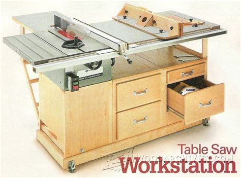 table  workstation plans table  tips jigs