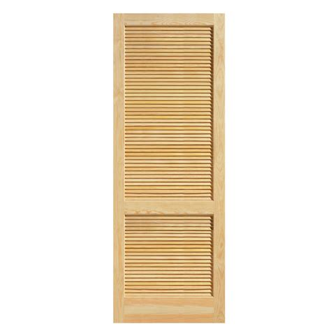 Louvered Interior Doors Lowes Louvered Closet Doors Lowes Shop Reliabilt Louver Panel Solid Pine Bifold Closet Door Common
