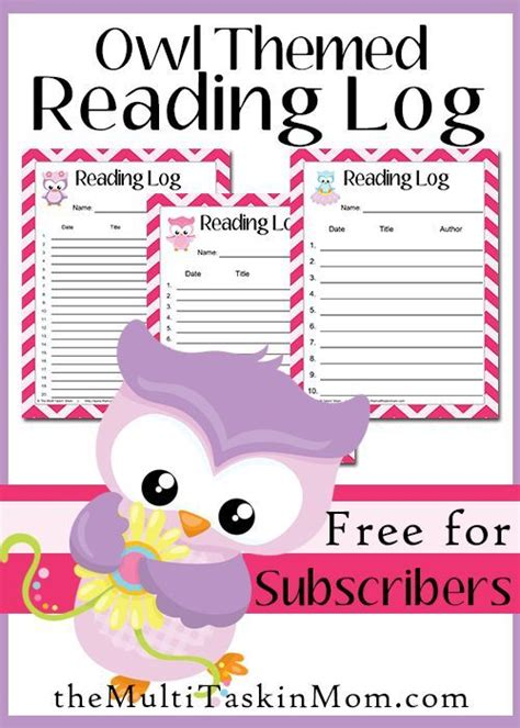 themed monthly reading logs modern preschool 17 best images about homeschool owls on pinterest
