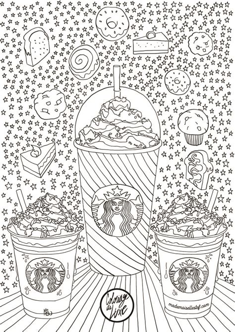 Starbucks Coloring Pages coloriage starbucks coffee tea coloring pages for