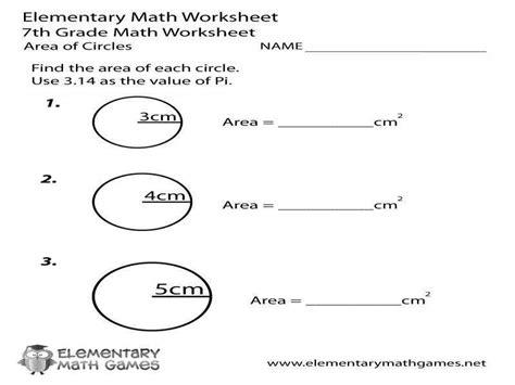 Equation Of A Circle Worksheet