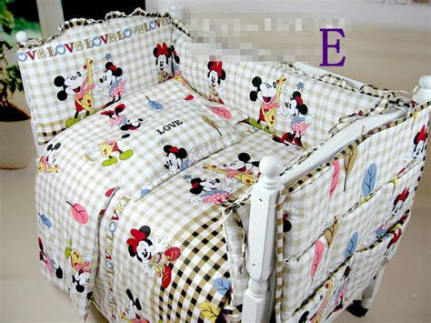 Mickey Mouse Crib Bedding Set For Baby Minnie Mouse Crib Bedding Baby Cotton Set Free Shipping Baby Nursery Crib Bedding Mickey Mouse