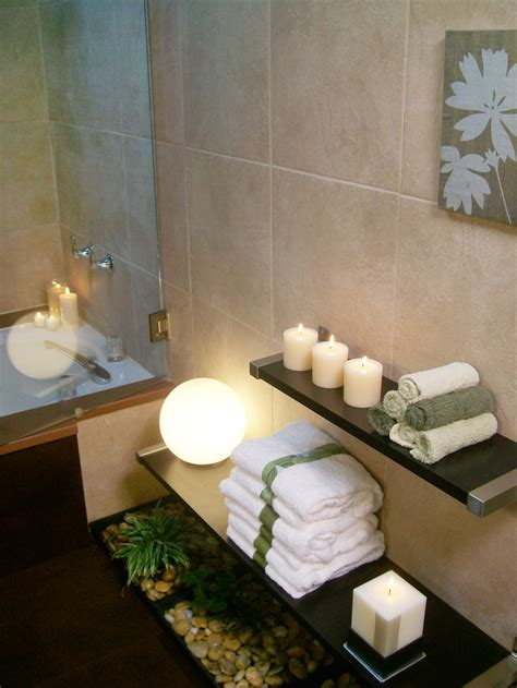 Bathroom Decor With Candles Decorating With Floating Floating Shelves In Bathroom