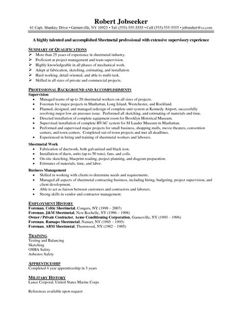 Entry Level Beaverton Oregon Mba Preferred by Sheet Metal Resume Exles Resume Ideas