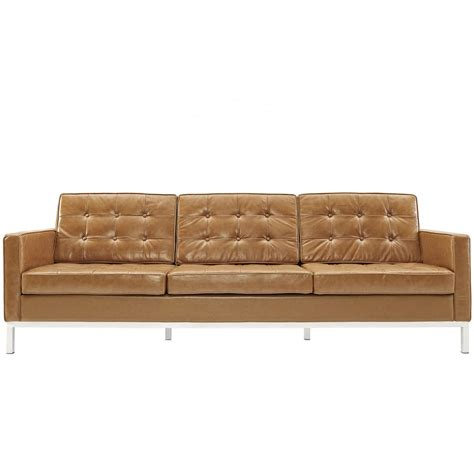 Design Ideas For White Tufted Sofa And Vintage Brown Leather 3 Seater Tufted Sofa With