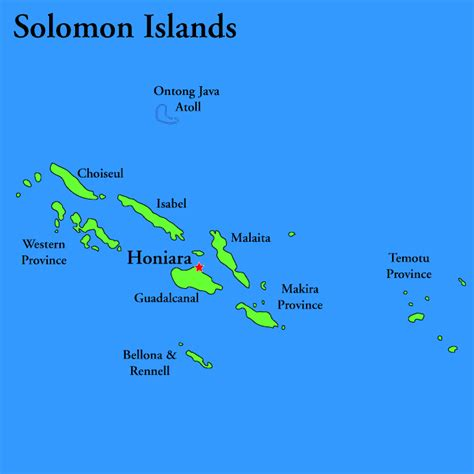solomon islands map solomon islands travel guide and travel info tourist destinations
