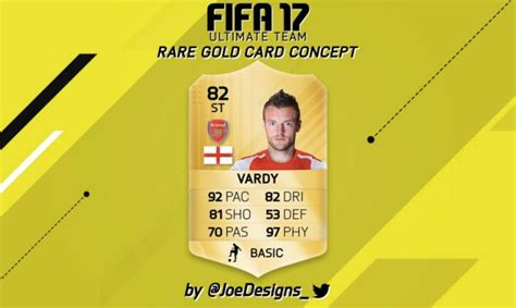 T Shirt Ultimate 17 vardy in arsenal shirt for fifa 17 ultimate team card