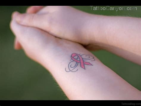 breast cancer tattoos for wrist 32 pretty cancer ribbon tattoos on wrist