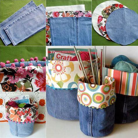diy nice storage bins   jeans