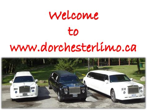 Kitchener Limo Service by Limo Service Kitchener At Dorchester Limo Authorstream