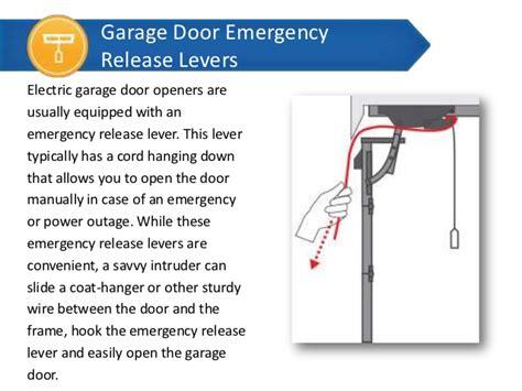 Diy Home Security Overhead Door Emergency Release
