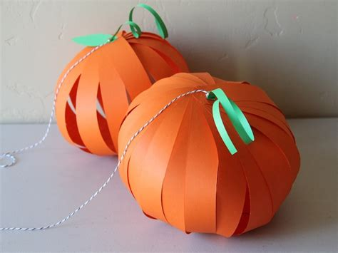 Paper Pumpkin Crafts - pumpkin lantern diy craft