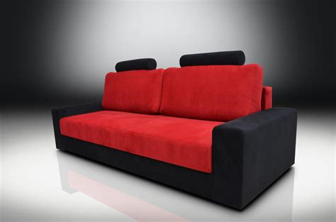 sofa red and black sofa bed chicago velvet fabric red black