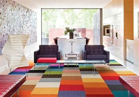 carpet tiles living room 21 ways to introduce rainbow color in home decor home