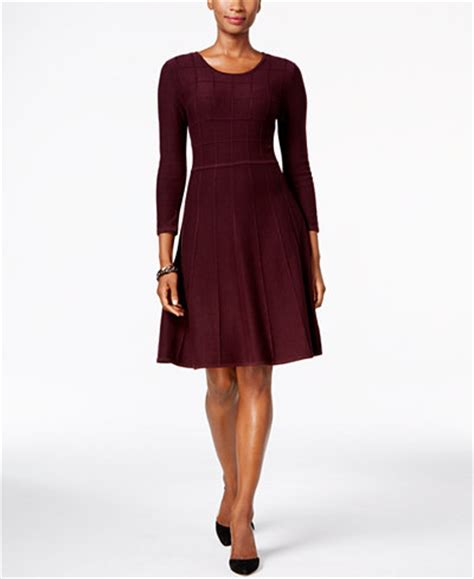 Madeline Dress Fit To L 1 howard fit flare sweater dress dresses macy s