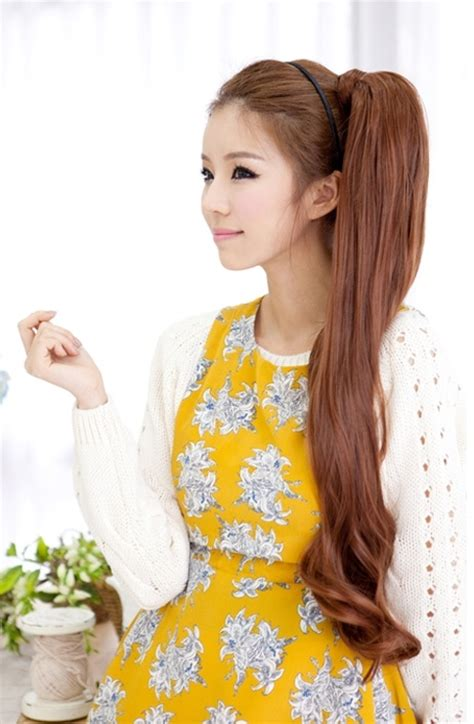 Asian Ponytail Hairstyles by Sweet Asian Hairstyles For Pretty