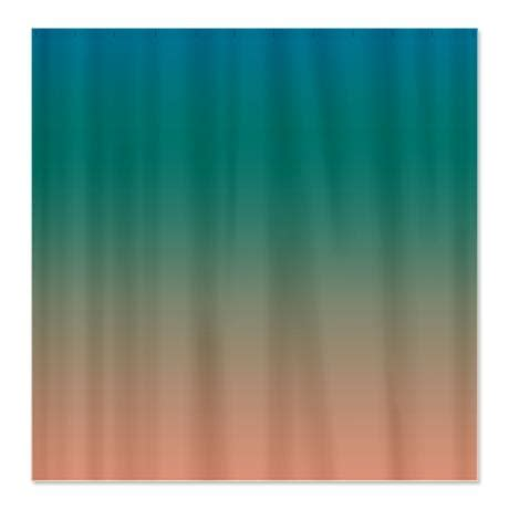 shower curtain beach theme teal beach shower curtain on