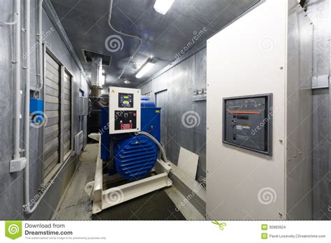 room design generator control room diesel generator for backup power stock photo