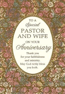 Happy anniversary pastor and wife