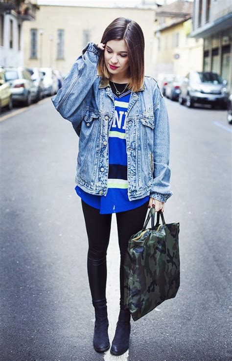 How To Wear A Jean Jacket Without Looking Like A Bag by Giubbotto Di Come Indossarlo Personalizzarlo