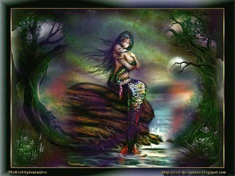 imagenes sirenas goticas sirena con su bebe