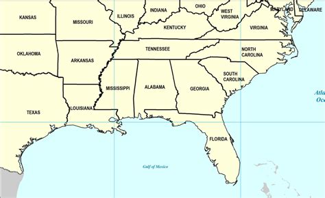 map of southern usa states the ancestor hunt