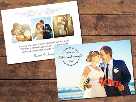 photo thank you cards wedding templates print templates wedding thank you cards gratitude thank