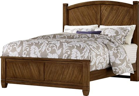 rustic queen bed rustic cottage rustic cherry queen panel bed from virginia house coleman furniture