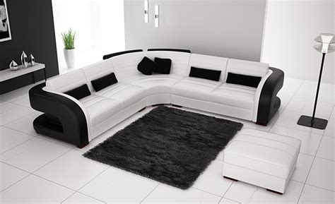 black and white combination sofa set free shipping classic black and white genuine leather l