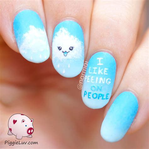 What Is Nail by Piggieluv Cheeky Kawaii Cloud Nail