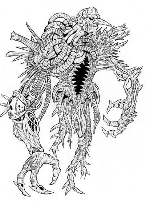 imagenes de monstruos faciles para dibujar monstruos dibujos arte taringa