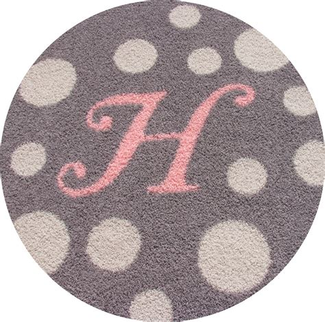 Initial Rug by Monogram Rug With Polka Dots Rosenberryrooms