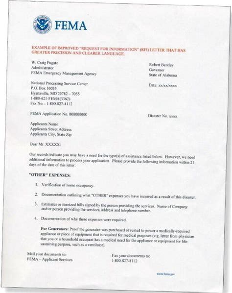 Appeal Letter Sle To Fema Government Information Technology Disaster Recovery Plan Fema Emergency Food