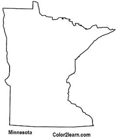 state of minnesota flag and map coloring pages auto