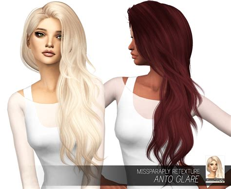 sims 4 hair my sims 4 blog anto glare hair retexture in 64 colors by