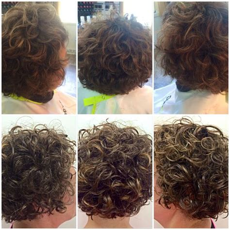 subtle perm styles before after deva curl cut with subtle bayalage