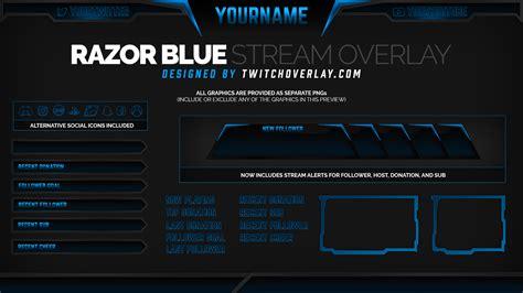discord overlay obs razor blue blue overlay twitch overlay