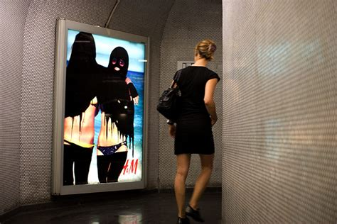 Princess Hijabb metro s ads attack by muslim vandals