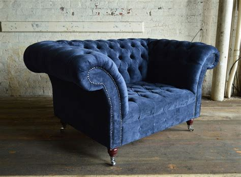 Naples Velvet Chesterfield Snuggle Chair Abode Sofas Chesterfield Sofa And Chairs