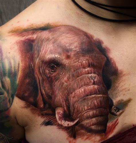 elephant face tattoo realistic elephant on s chest best design ideas