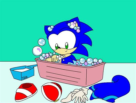 sonic plushie bath time by latigressa6268808 on deviantart